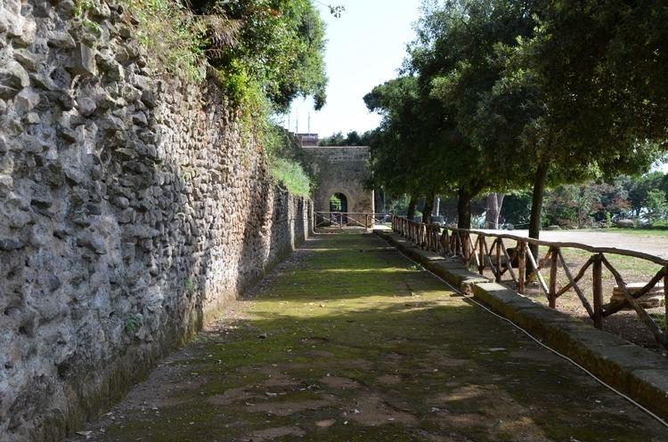 Lanuvium FileThe portico of the Sanctuary of Juno Sospita at Lanuvium