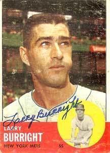 Larry Burright wwwbaseballalmanaccomplayerspicslarryburrig