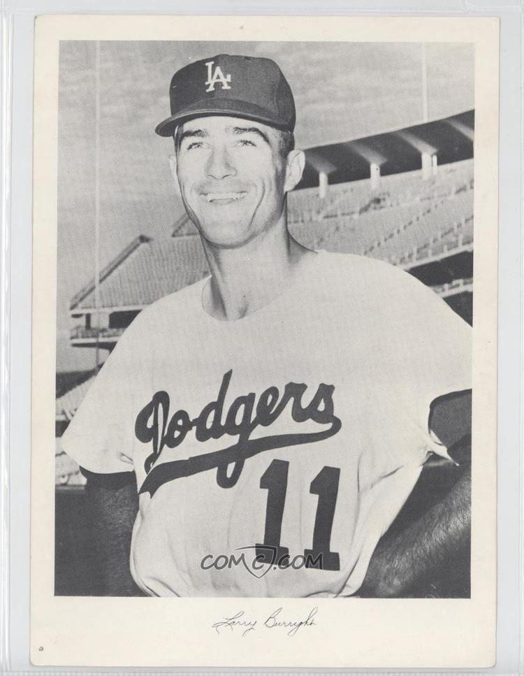 Larry Burright 1962 Los Angeles Dodgers Team Issue Base LABU Larry Burright