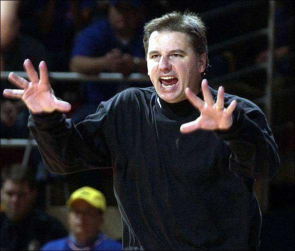 Larry Eustachy Photo Iowa State coach Larry Eustachy yells as his
