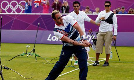Larry Godfrey London 2012 Larry Godfrey reaches last 16 of men39s
