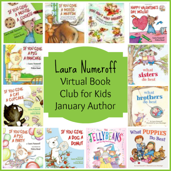 Laura Numeroff Virtual Book Club for Kids January Author is Laura Numeroff