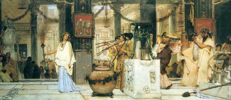 Lawrence Alma-Tadema The Vintage Festival Sir Lawrence AlmaTadema WikiArtorg
