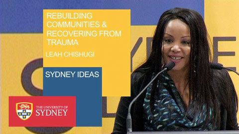 Leah Chishugi Rebuilding communities and recovering from trauma A