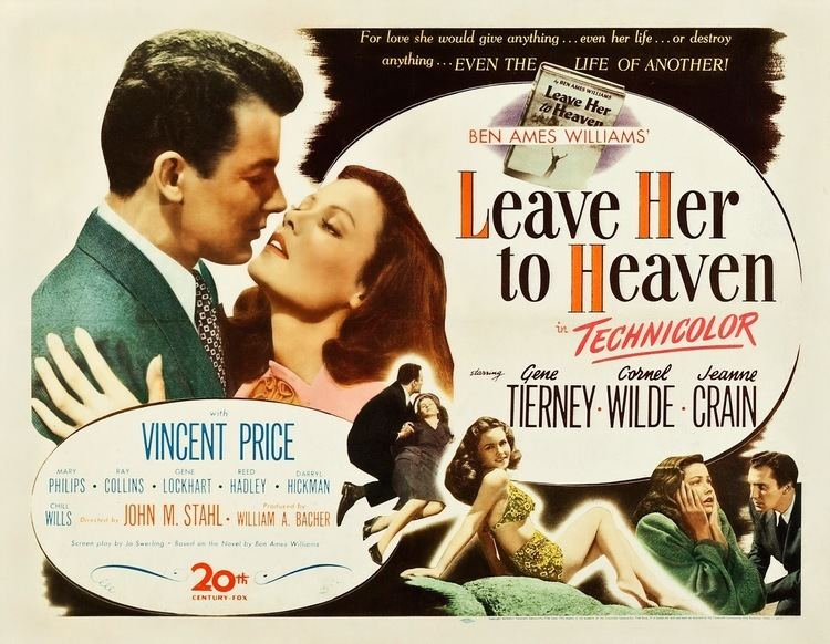 Leave Her to Heaven Leave Her to Heaven 1945 A masterpiece of post war American