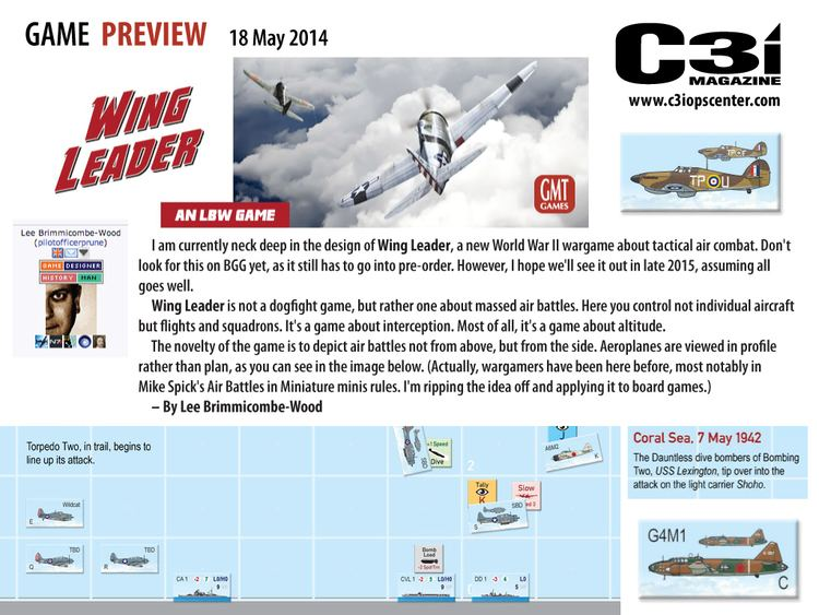Lee Brimmicombe-Wood Wing Leader Game Preview By Lee BrimmicombeWood C3i Ops Center