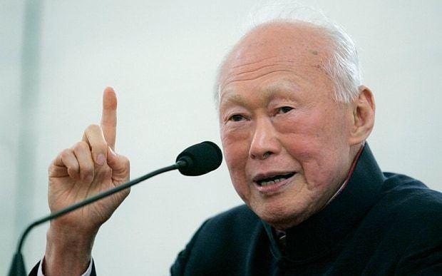 Lee Kuan Yew Lee Kuan Yew his most memorable quotes Telegraph