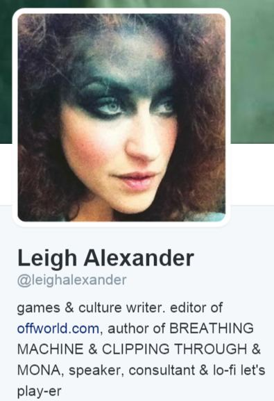 Leigh Alexander (journalist) TWITTER HIT Leigh Loses It Alex the Cucks Cousin Allegedly Puts