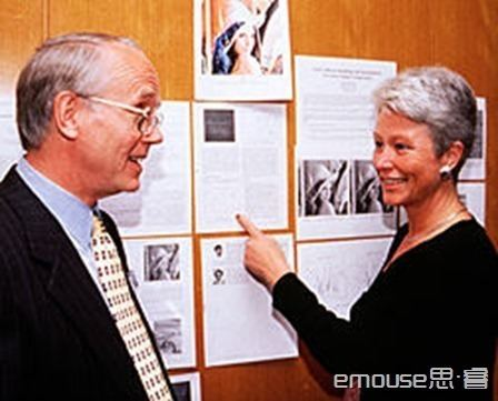 Lena Söderberg at the 50th annual Conference of the Society for Imaging Science and Technology in 1997