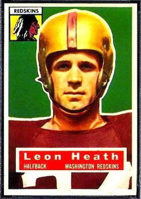 Leon Heath wwwfootballcardgallerycom1956Topps25LeonHea