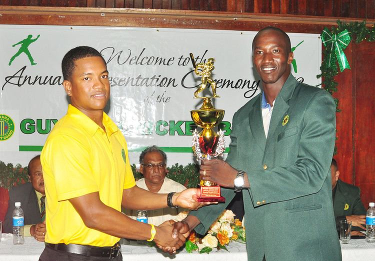 Leon Johnson (cricketer) Cricketer of the year Stabroek News