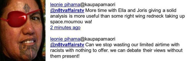 Leonie Pihama Maori TV debate 20812 Leonie Pihama photo tweet John Ansell