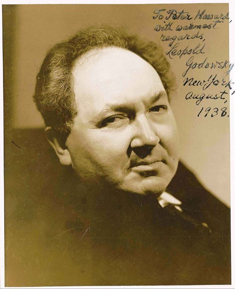 Leopold Godowsky Professor Peter F HowardThe Leopold Godowsky Paul Howard