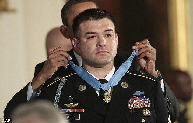 Leroy Petry Brave Army Ranger Leroy Petry is rewarded by Barack Obama