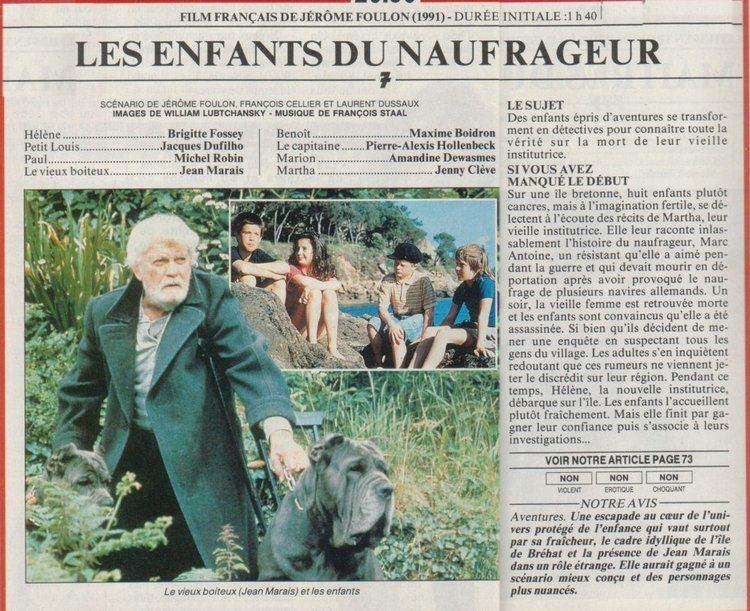Les Enfants du naufrageur Base de donnes de films franais avec images