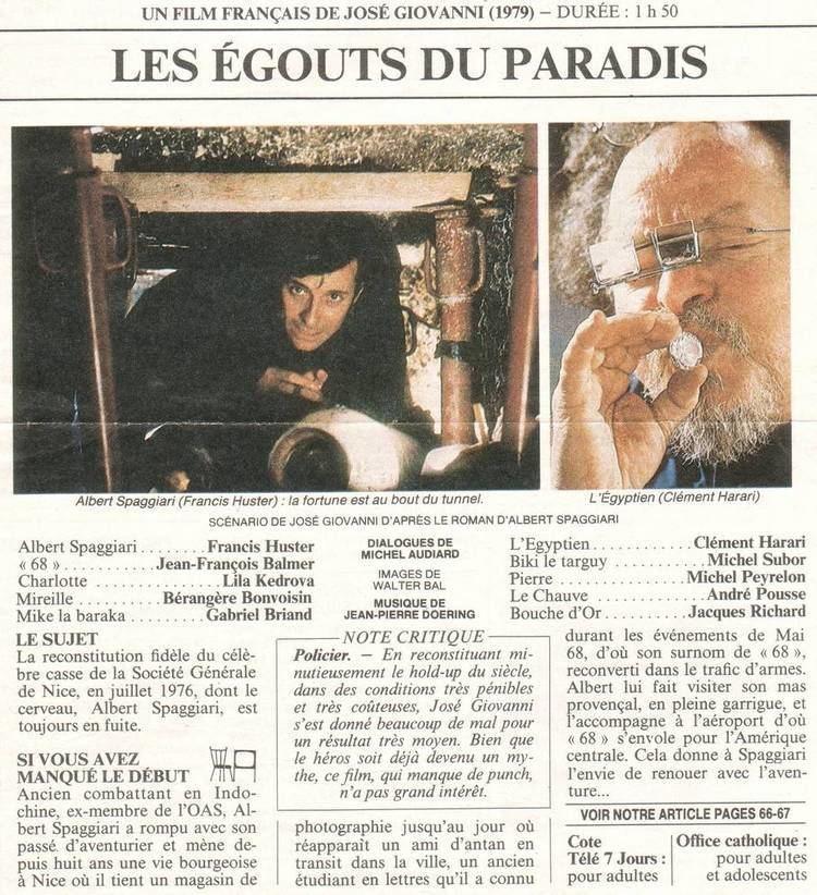 Les Égouts du paradis Base de donnes de films franais avec images
