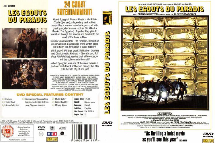 Les Égouts du paradis Jaquette DVD de Les gouts du paradis Cinma Passion