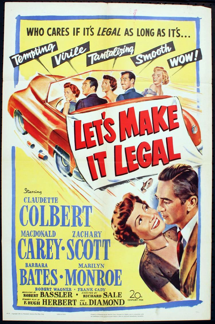 Let's Make It Legal Lets Make It Legal US Movie Poster 1951 Marilyn Monroe Lets