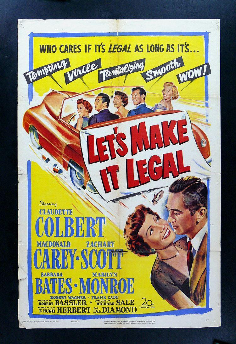 Let's Make It Legal LETS MAKE IT LEGAL MARILYN MONROE MOVIE POSTER 1951 eBay