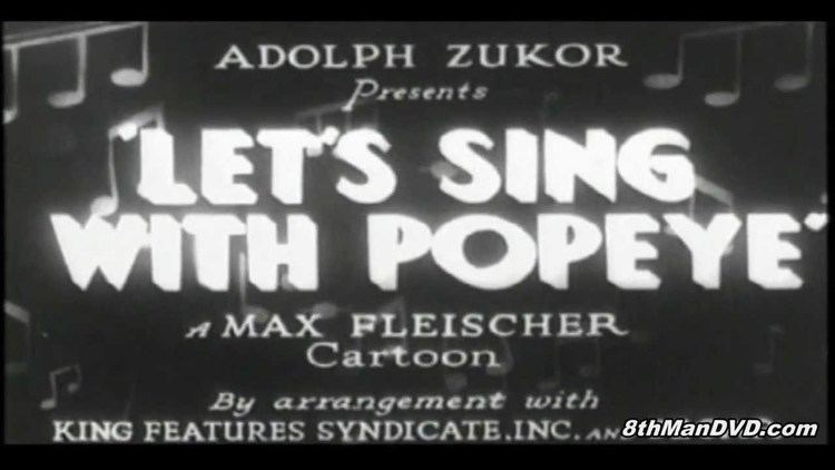 Let's Sing with Popeye POPEYE THE SAILOR MAN Lets Sing with Popeye 1933 Remastered