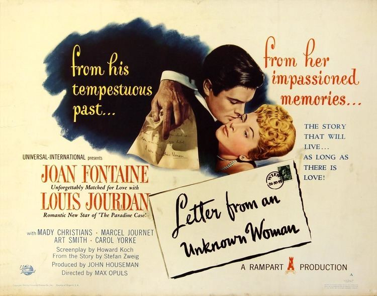 Letter from an Unknown Woman (1948 film) 1948 Letter from an Unknown Woman Film 1940s The Red List