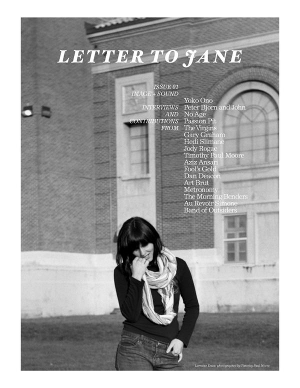 Letter to Jane LETTER TO JANE magazine 01 on Behance