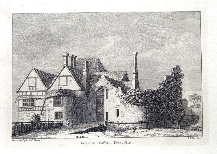 Leybourne Castle KENT LEYBOURNE CASTLE Pl 2 WEST MALLING LARKFIELD Hooper Antique