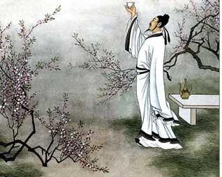 Li Bai Li Bai en de maan Een ander opmerkelijk sterfgeval viel ten deel aan