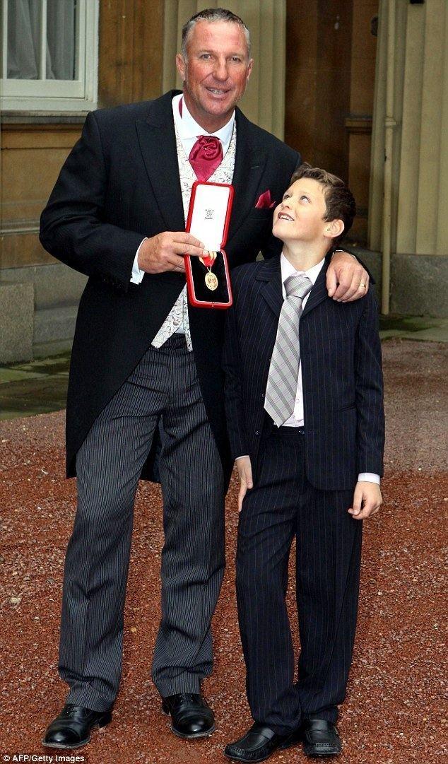 Liam Botham Sir Ian Botham watches his grandson Jims international Wales rugby