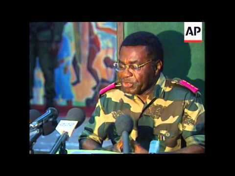 Likulia Bolongo ZAIRE NEW PRIME MINISTER GENERAL LIKULIA BOLONGO PRESS CONFERENCE