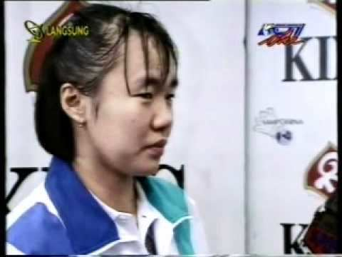 Lili Tampi Final Uber Cup di Hongkong Wawancara Meiluwati RCTI 25 Mei 1996