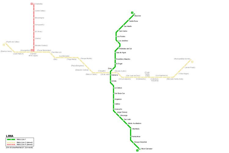 Lima Metro UrbanRailNet gt South America gt Peru gt Lima Metro