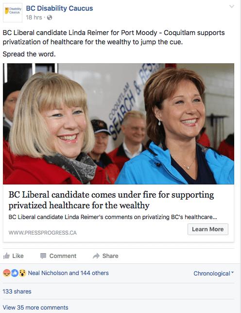 Linda Reimer BC Liberal MLA Linda Reimer Port MoodyCoquitlam In Her Own Words