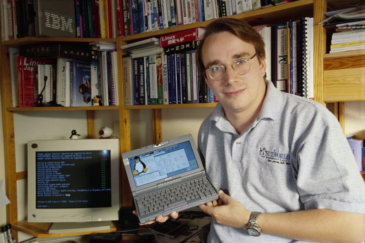 Linus Torvalds Happy 25th birthday Linux TechCrunch