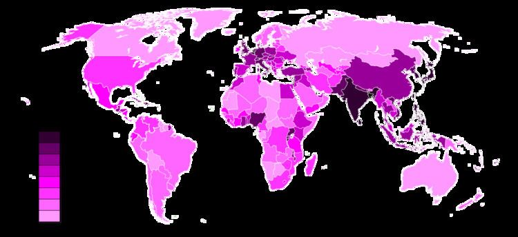 list of countries and dependencies by population density - 750×344