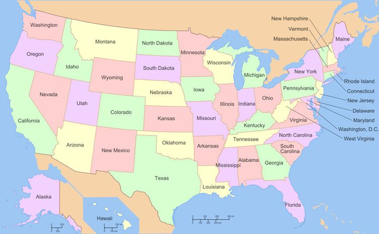 List of states and territories of the United States