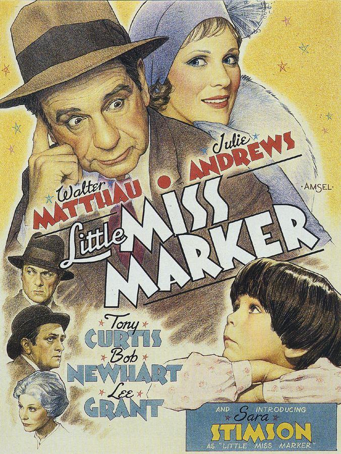 Little Miss Marker (1980 film) Little Miss Marker 1980 Movie art by Richard Amsel Watercolor