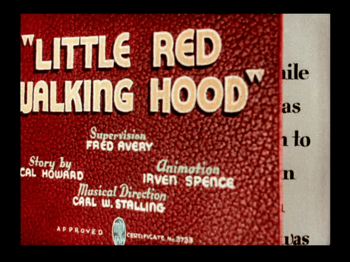 Little Red Walking Hood Supervised By Fred Avery Tex Averys Warner Brothers Cartoons