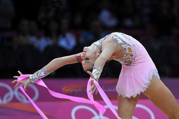 Liubov Charkashyna Liubov Charkashyna London ribbon Rhythmic Gymnastics