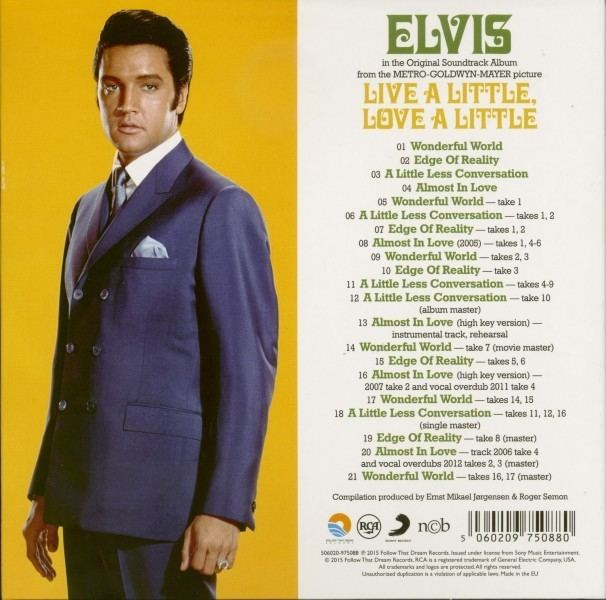 Live a Little, Love a Little Elvis Presley CD Live A Little Love A Littleplus 7inch deluxe