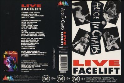 Live Facelift Jolly Roger Bootlegs ALICE IN CHAINS LIVE FACELIFT 1990 VHS