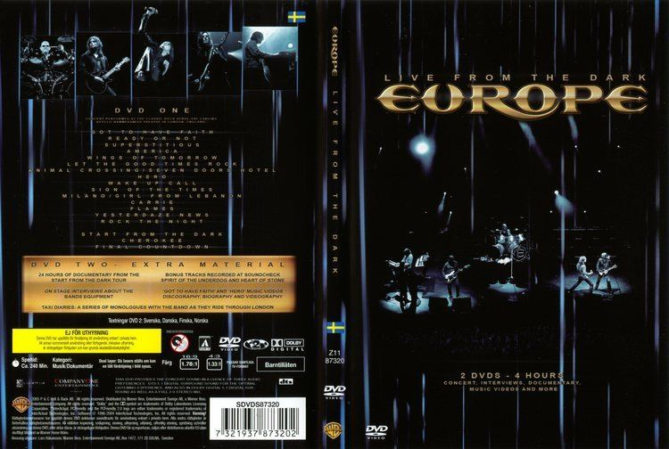 Live from the Dark COVERSBOXSK Europe Live From The Dark high quality DVD