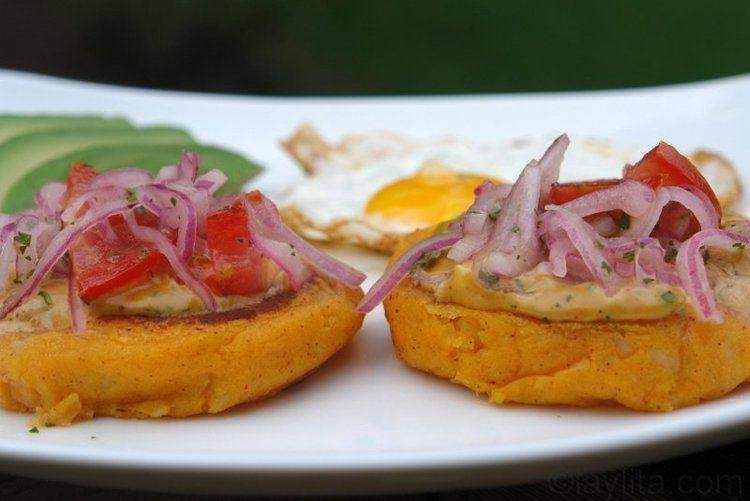 Llapingacho Llapingachos or Ecuadorian stuffed potato patties Laylita39s Recipes