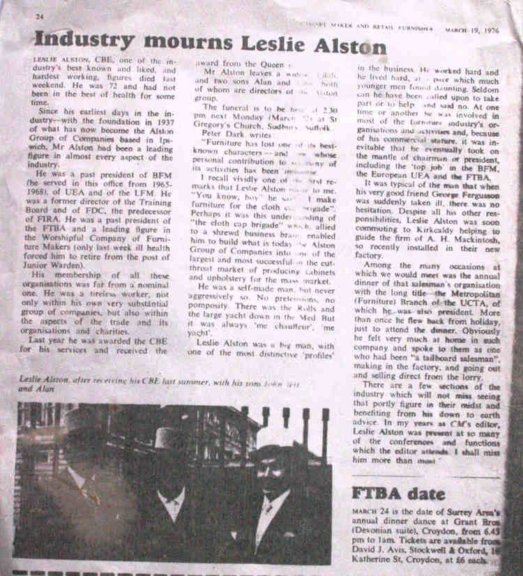 Llewellyn Alston Leslie William Llewellyn ALSTON CBE 6032