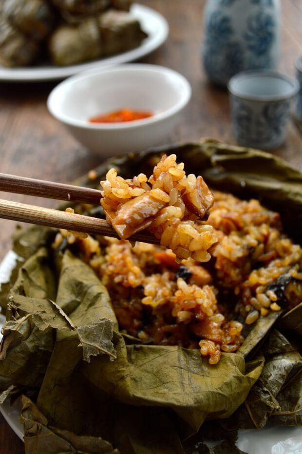 Lo mai gai Dim Sum Sticky Rice Lotus Leaf Wraps w Chicken Lo Mai Gai The