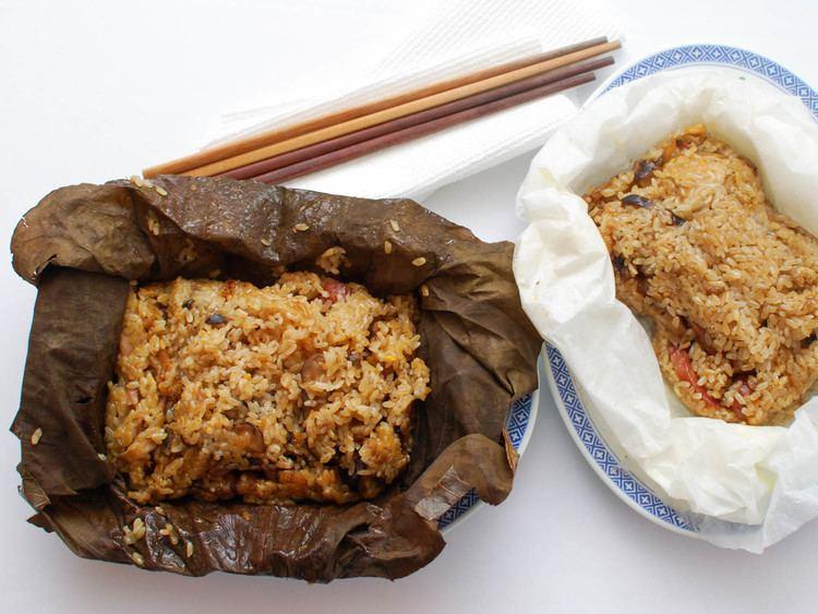 Lo mai gai Chinese Sticky Rice Wrapped in Lotus Leaf Lo Mai Gai Recipe