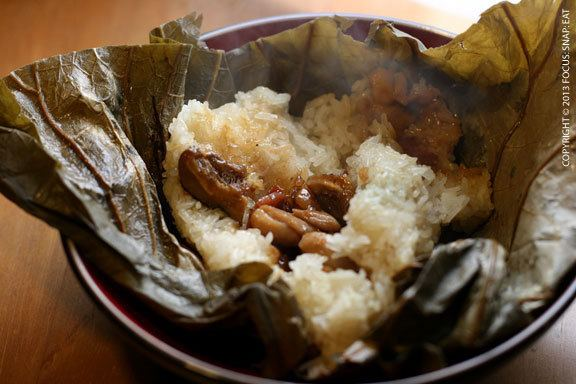 Lo mai gai How to Make Sticky Rice Chicken Lo Mai Gai in Lotus Leaves Focus