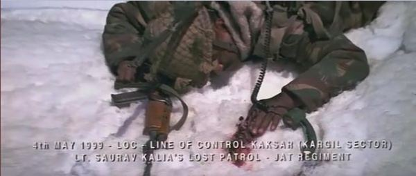 LOC Kargil movie scenes The beginning scene message on the radio alpha for charlie alpha for charlie over charlie this is alpha report to HQ over