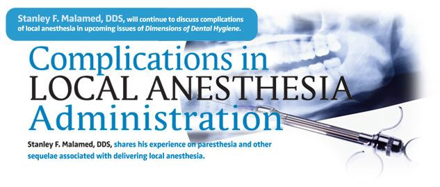 Local anesthesia Dimensions of Dental Hygiene