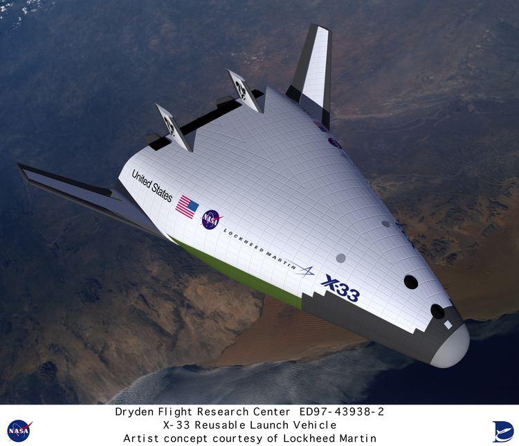 Lockheed Martin X-33 X33 ED97439382 Computer graphic of Lockheed Martin X33 Reusable